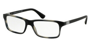 Prada PR 06SV USD1O1 MATTE STRIPED GREY