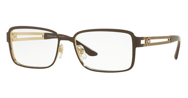 Versace VE1236 1378 MATTE BROWN/PALE GOLD