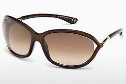Kacamata surya Tom Ford Jennifer (FT0008 692) - Coklat, Dark, Shiny