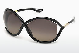 Kacamata surya Tom Ford Whitney (FT0009 01D) - Hitam, Shiny