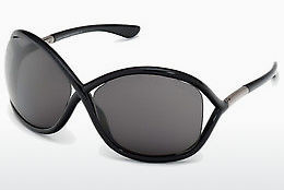 Kacamata surya Tom Ford Whitney (FT0009 199) - Hitam, Shiny