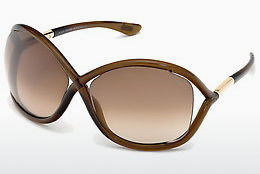 Kacamata surya Tom Ford Whitney (FT0009 692) - Coklat, Dark, Shiny