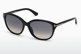 Kacamata surya Tom Ford Karmen (FT0329 01B) - Hitam, Shiny