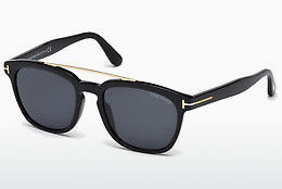 Kacamata surya Tom Ford Holt (FT0516 01A) - Hitam, Shiny
