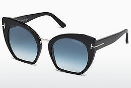 Kacamata surya Tom Ford Samantha (FT0553 01W) - Hitam, Shiny