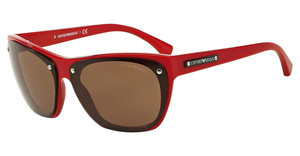 Emporio Armani EA4059 547673 BROWNTOP RED TRANSPARENT ON RED