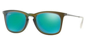 Ray-Ban RB4221 61693R LIGHT GREEN MIRROR GREENSHOT GREEN RUBBER