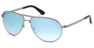 Tom Ford FT0144 14X blau verspiegeltruthenium hell glanz