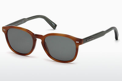 Kacamata surya Ermenegildo Zegna EZ0005 53N - Havanna, Yellow, Blond, Brown
