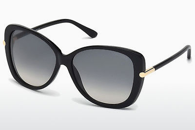 Kacamata surya Tom Ford Linda (FT0324 01B) - Hitam, Shiny