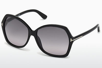 Kacamata surya Tom Ford Carola (FT0328 01B) - Hitam, Shiny