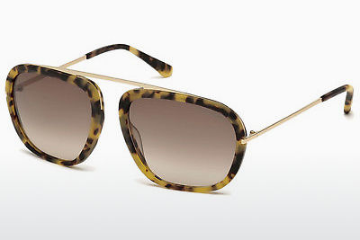 Kacamata surya Tom Ford Johnson (FT0453 53F) - Havanna, Yellow, Blond, Brown