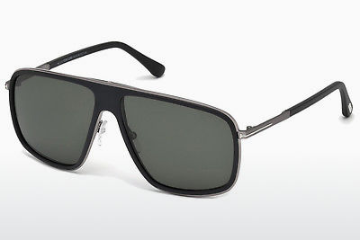 Kacamata surya Tom Ford Quentin (FT0463 02R) - Hitam, Matt