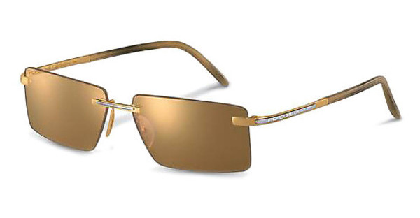 Porsche Design P8498 A brown, 24 ct gold mirrored18 ct gold, 900 Pt