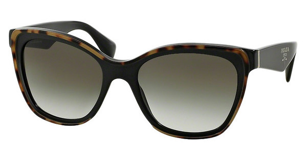 Prada PR 20PS MA50A7 GRAY GRADIENTTOP MEDIUM HAVANA/BLACK